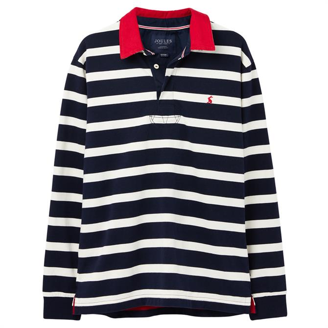 Joules Oneside Striped Rugby Shirt