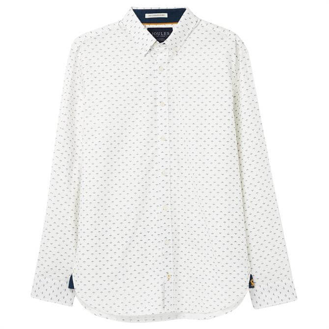 Joules Invitation Classic Fit Long Sleeve Printed Shirt