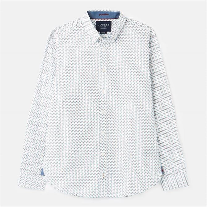 Joules Invitation Print Classic Fit Shirt