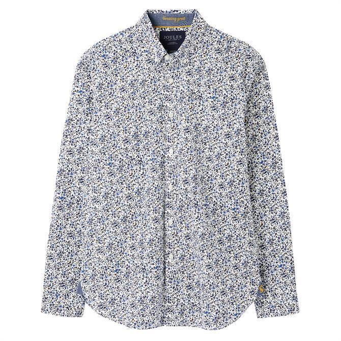 Joules Invitation Print Classic Fit Shirt