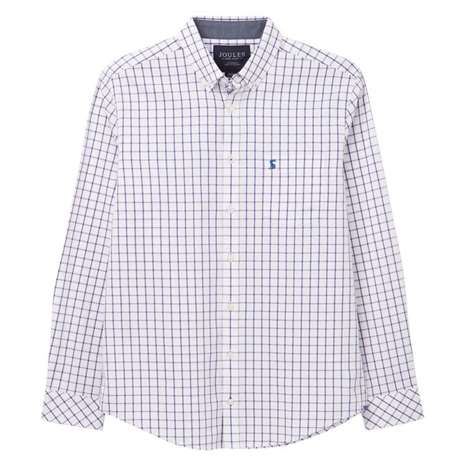 Joules Welford Long Sleeve Classic Fit Checked Shirt
