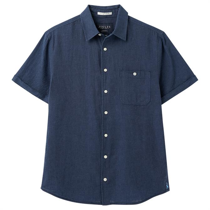 Joules Relaxed Linen Short Sleeve Shirt