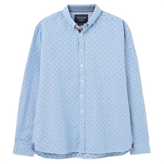 Joules Coleridge Blue Classic Fit Dobby Shirt