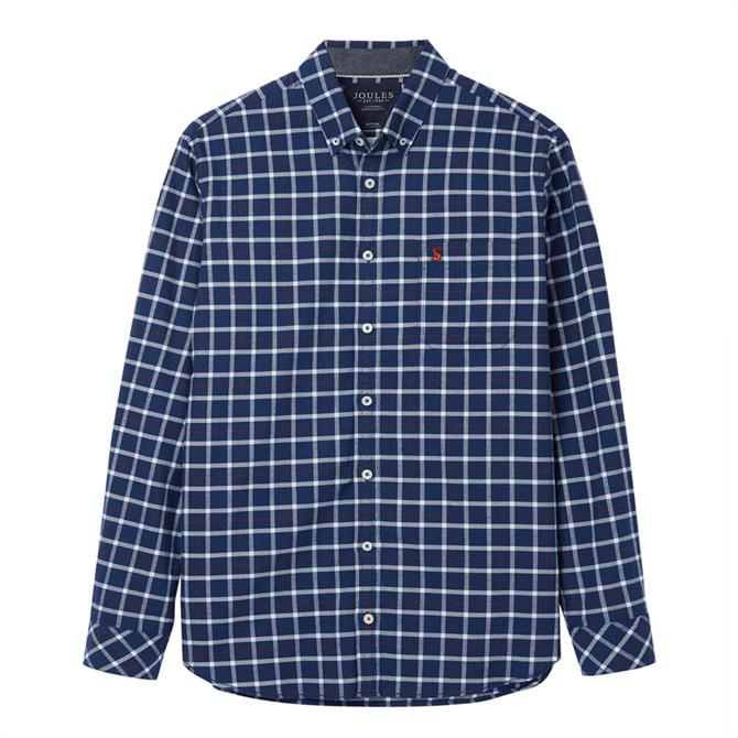 Joules Buchanan Long Sleeve Classic Fit Peached Poplin Shirt