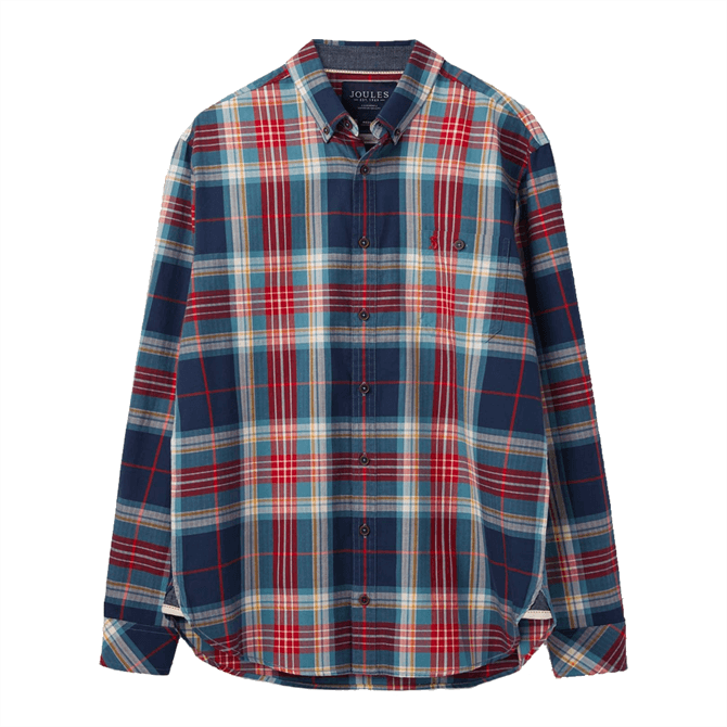 Joules Hewitt Long Sleeve Classic Fit Check Shirt