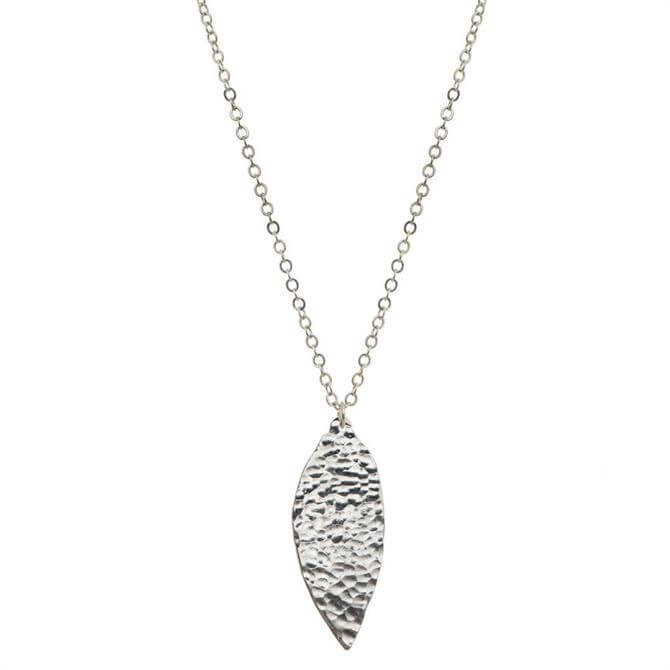 Just Trade Silver Plated Meadow Large Leaf Pendant