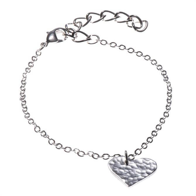 Just Trade Silver Plated Heart Bracelet