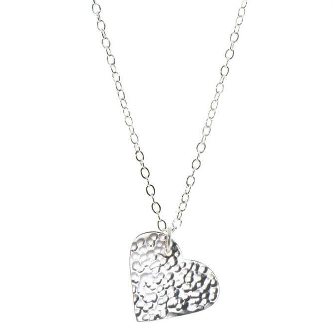 Just Trade Silver Plated Heart Pendant