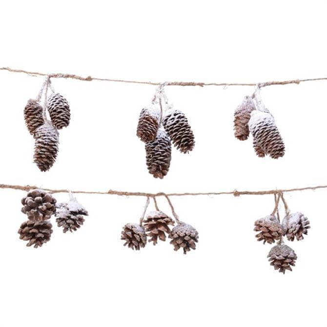 Kaemingk Frosted Pine Cone Garland