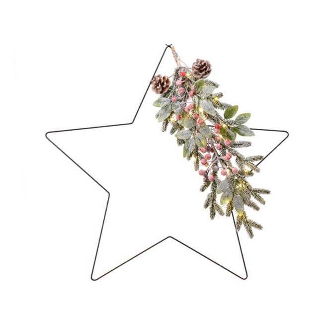 Kaemingk LED Deco Star With Berries