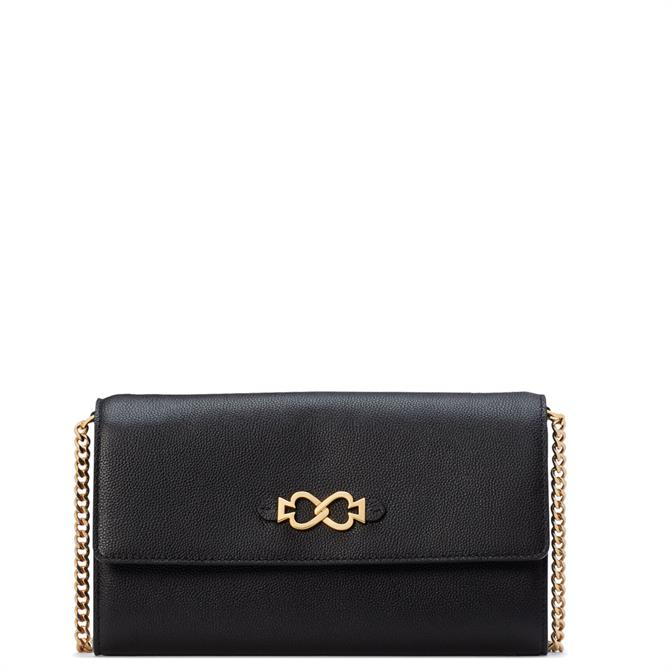 Kate Spade New York Toujours Black Chain Clutch Bag