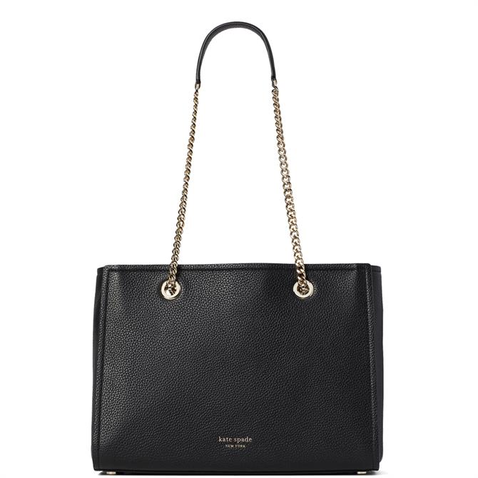 Kate Spade New York Amelia Black Pebble Large Leather Tote Bag