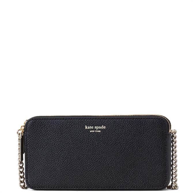 Kate Spade New York Margaux Black Double Zip Mini Crossbody Bag