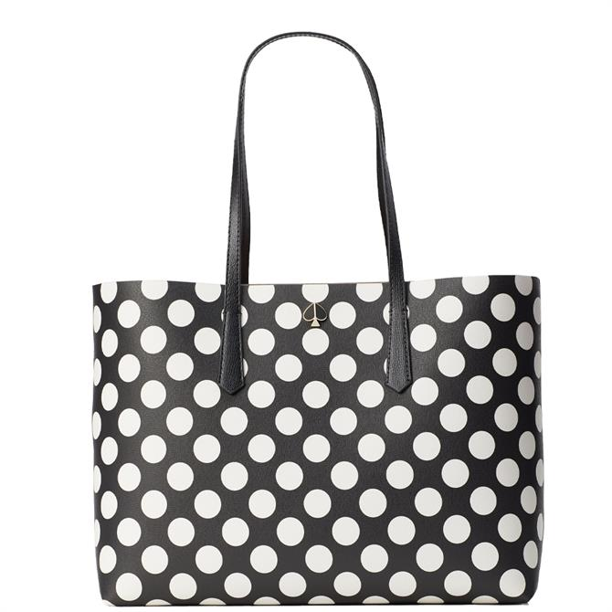 Kate Spade New York Molly Bikini Dot Black Large Tote Bag
