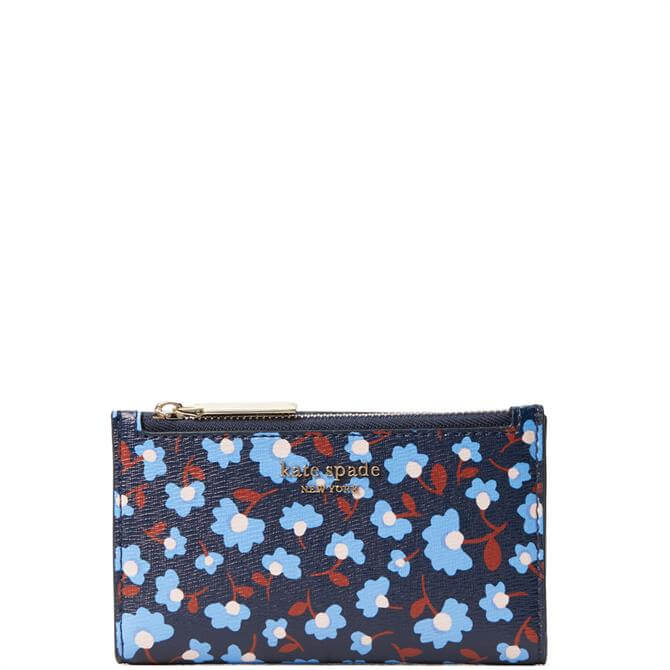 Kate Spade New York Spencer Party Floral Small Slim Bilfold Wallet