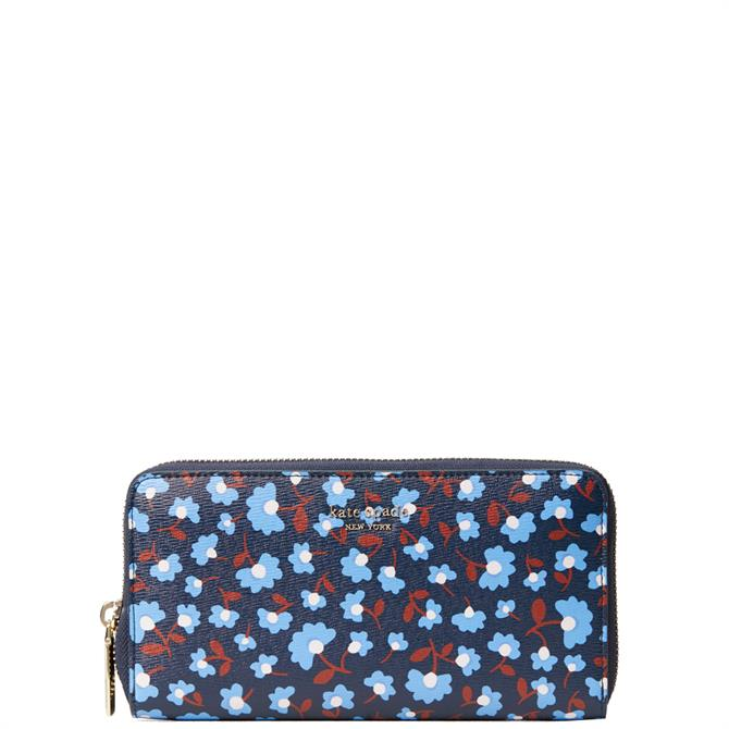 Kate Spade New York Spencer Party Floral Zip Around Continental Wallet