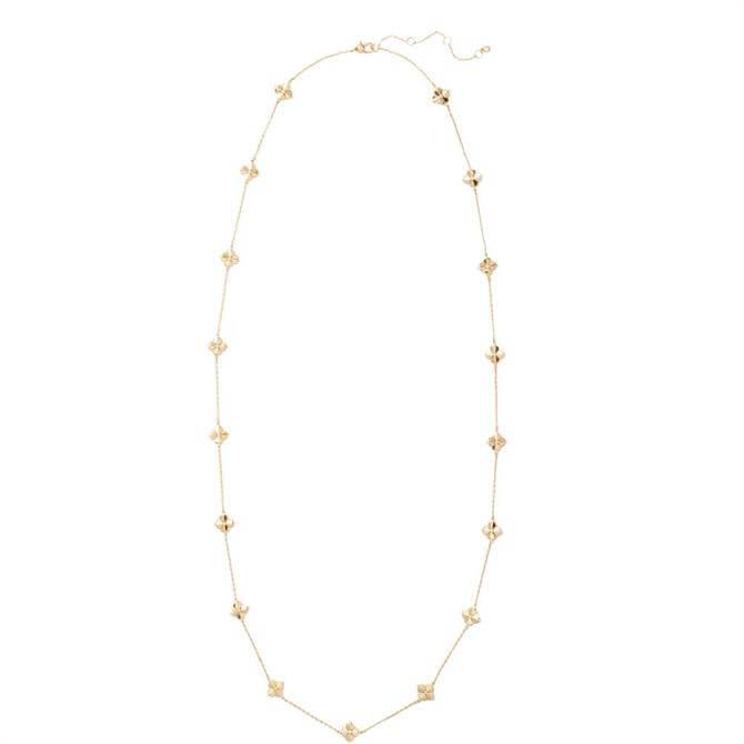 Kate Spade New York Legacy Logo Spade Flower Scatter Necklace