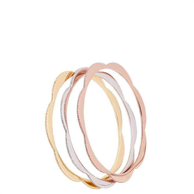 Kate Spade New York Slender Scallops Pave Bangle Set