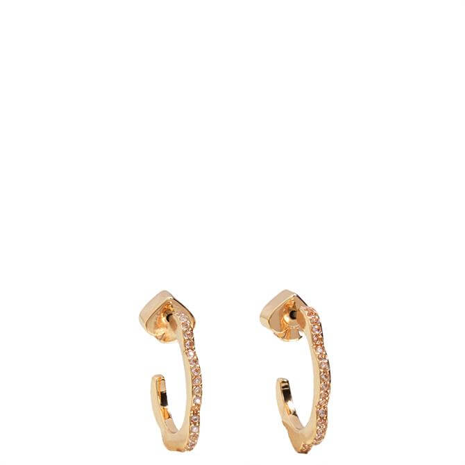 Kate Spade New York Slender Scallops Mini Pave Hoop Earrings