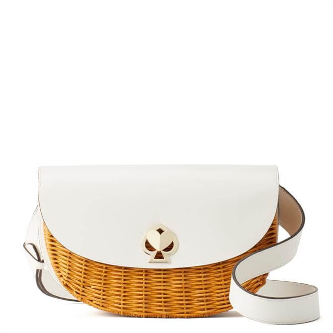 Kate Spade New York Nicola Wicker Twistlock Medium Sling Bag