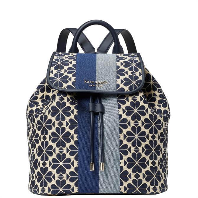 Kate Spade New York Spade Flower Jacquard Stripe Blue Multi Backpack