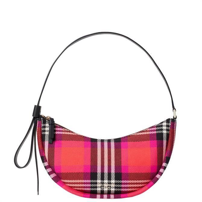 Kate Spade New York Smile Small Pink Checked Shoulder Bag