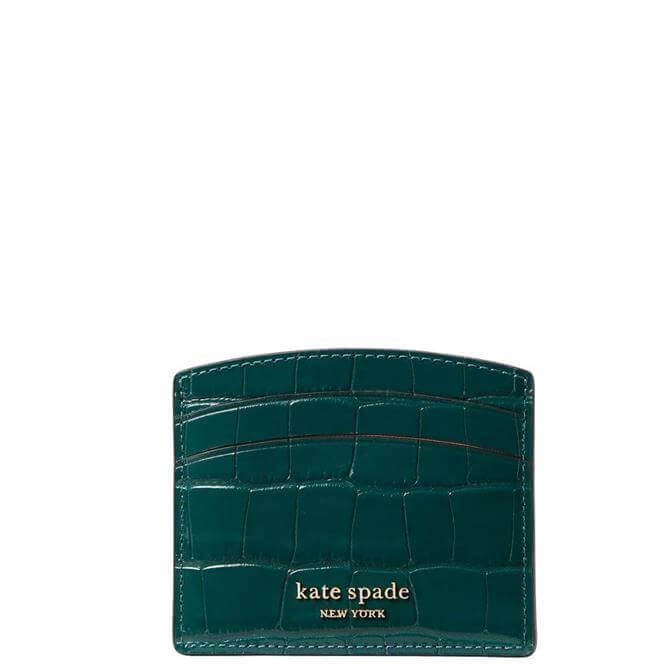 Kate Spade New York Croc Embossed Card Holder