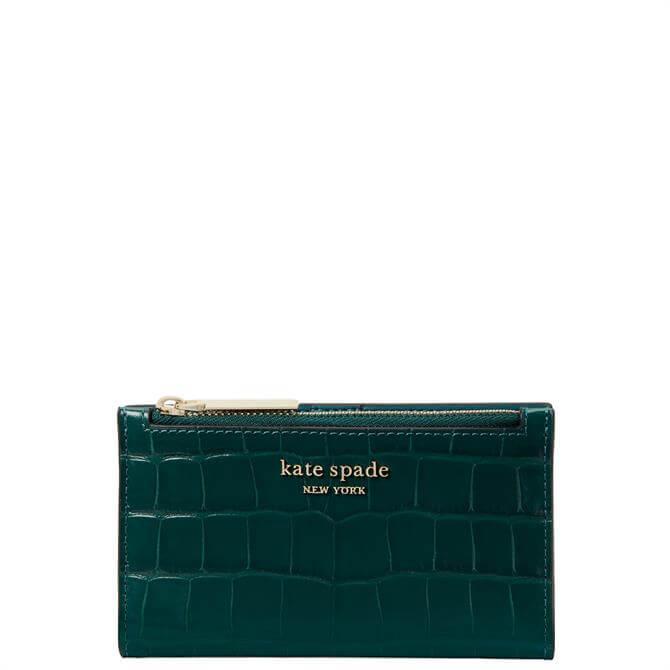 Kate Spade New York Small Croc Embossed Bilfold Wallet