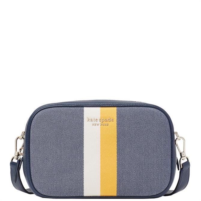 Kate Spade New York Astrid Striped Canvas Medium Crossbody Bag