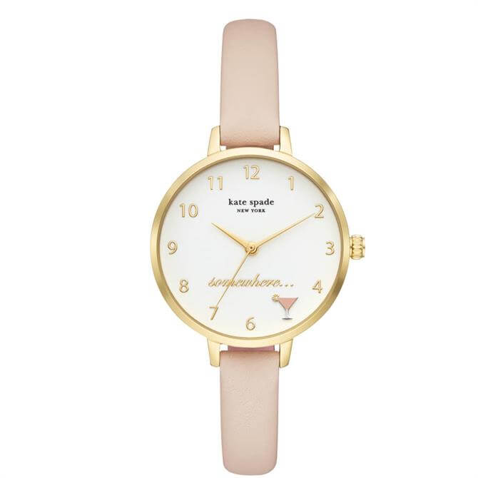 Kate Spade New York Metro Blush Leather Watch