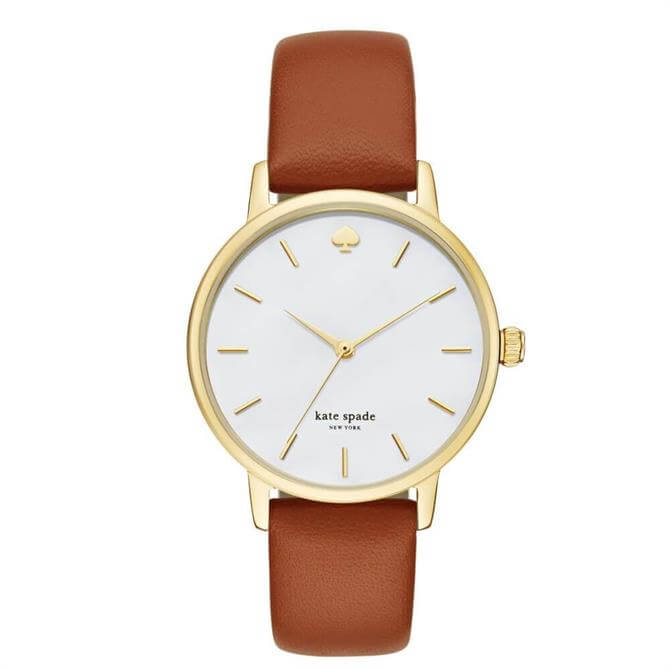 Kate Spade New York Metro Brown Leather Watch