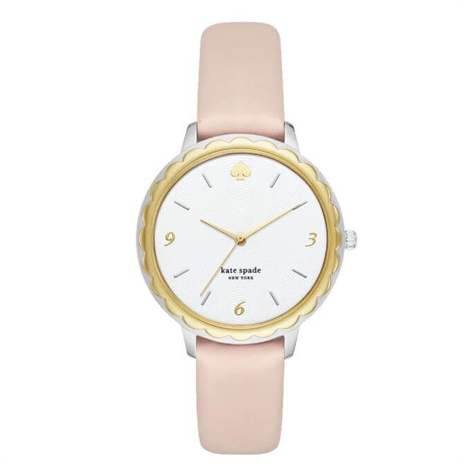 Kate Spade New York Morningside Scallop Pale Vellum Leather Watch