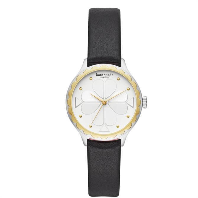 Kate Spade New York Rosebank Black Leather Watch