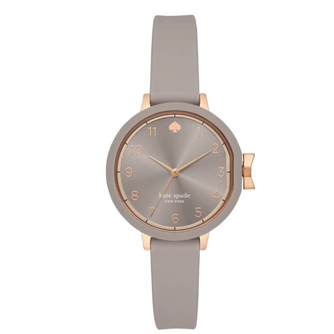 Kate Spade New York Warm Taupe Silicone Park Row Watch