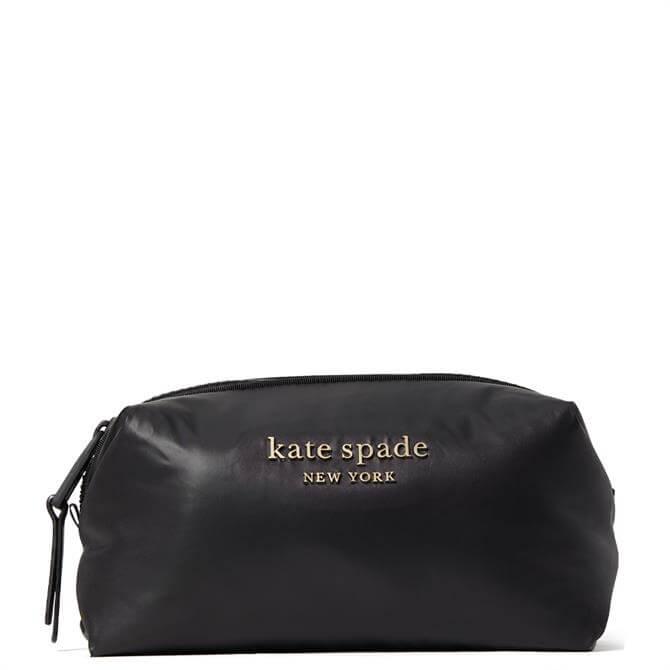 Kate Spade New York Spade Black Everything Puffy Medium Cosmetic Case