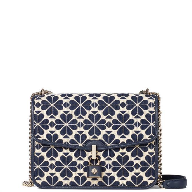 Kate Spade New York Spade Flower Jacquard Lockett Large Flap Shoulder Bag