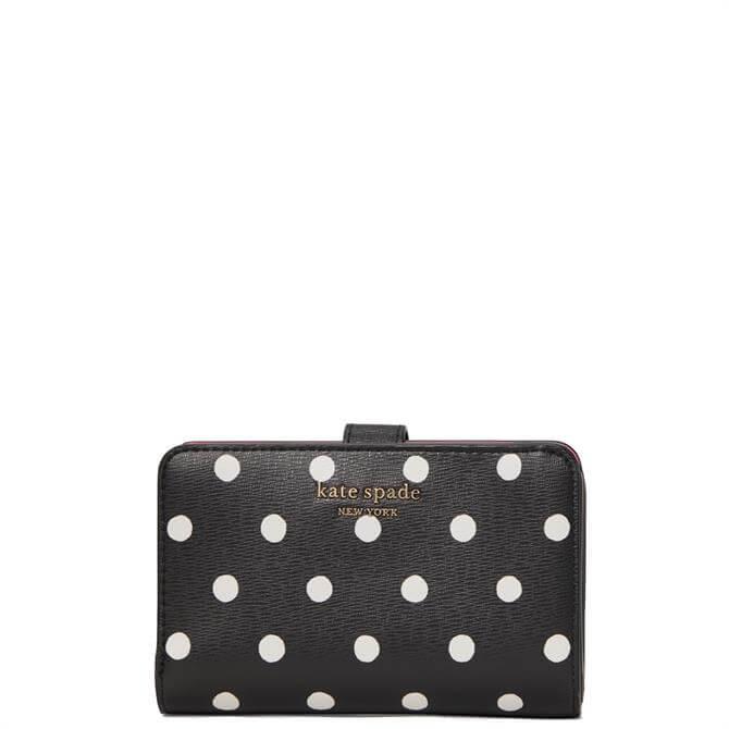 Kate Spade New York Spencer Sunshine Dot Black Compat Wallet