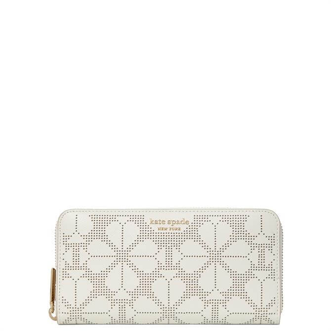 Kate Spade New York Spade Spencer Perforated Continental Zip Around Wallet