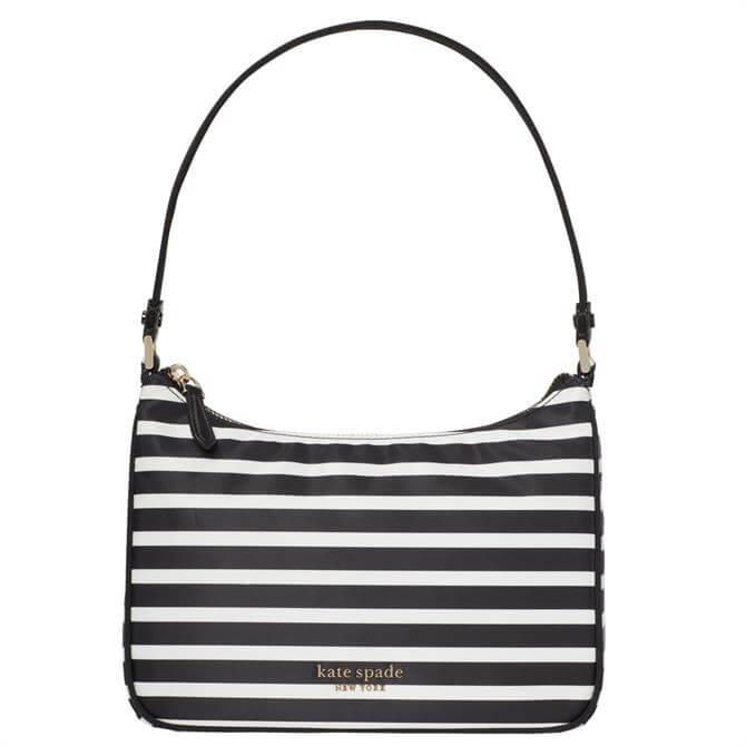 Kate Spade New York The Little Better Sam Black Striped Small Shoulder Bag