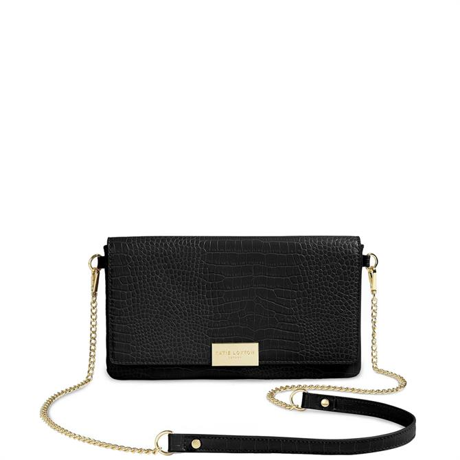 Katie Loxton Celine Faux Croc Fold Over Crossbody Bag