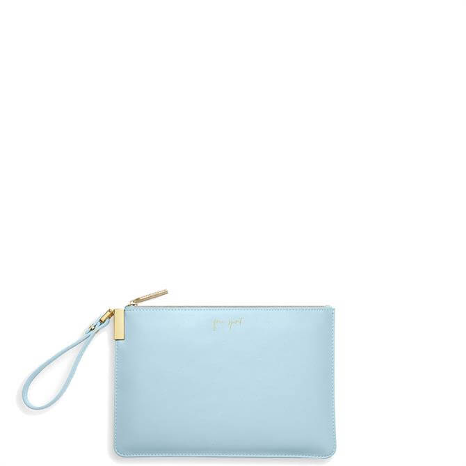 Katie Loxton 'Free Spirit, The World is Your Oyster' Blue Secret Message Pouch