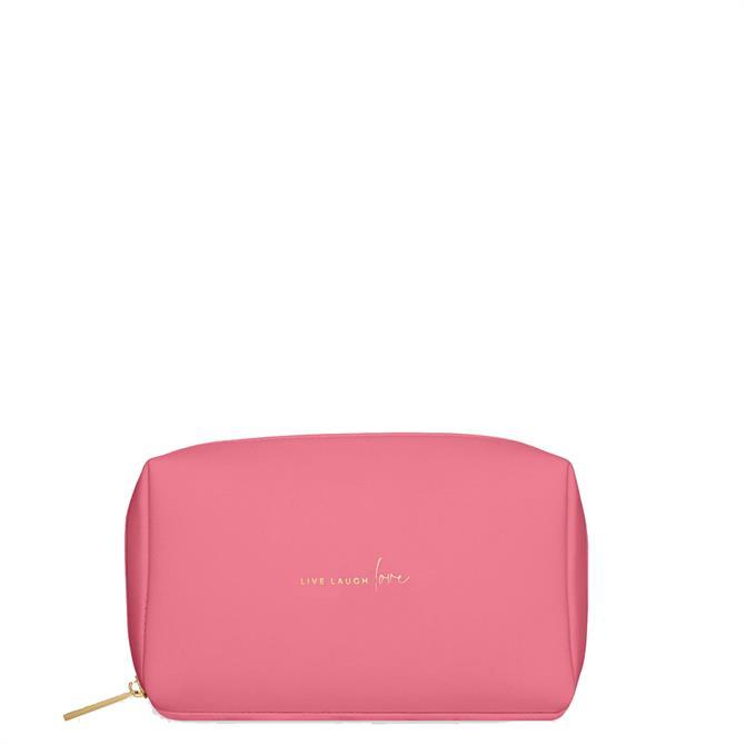 Katie Loxton Colour Pop 'Live Laugh Love' Pink Make Up Bag