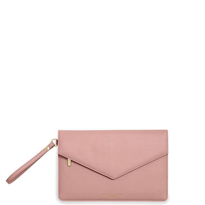 Katie Loxton Esme 'Live Laugh Love' Pink Envelope Clutch Bag