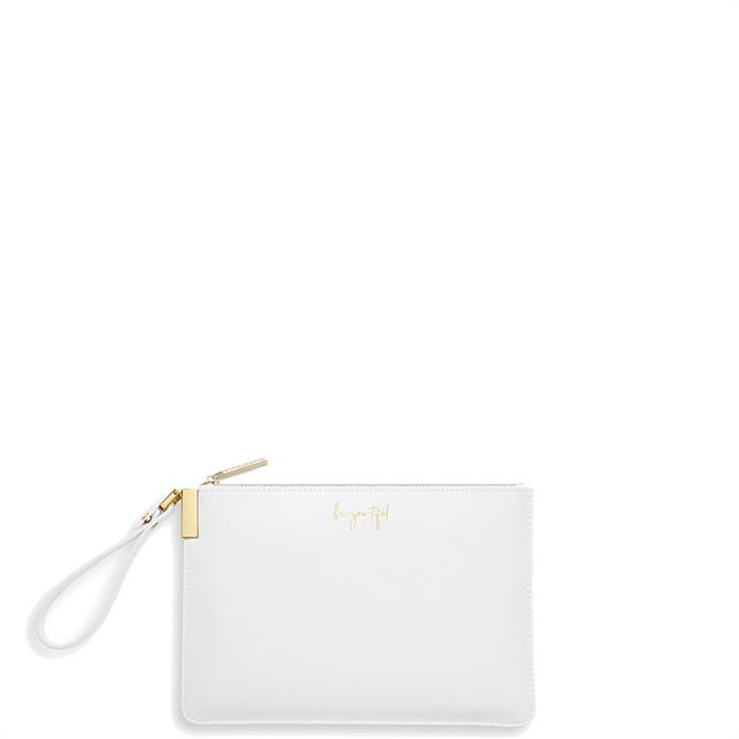 Katie Loxton 'Be-You-Tiful, Be Your Own Kind of Beautiful' White Secret Message Pouch