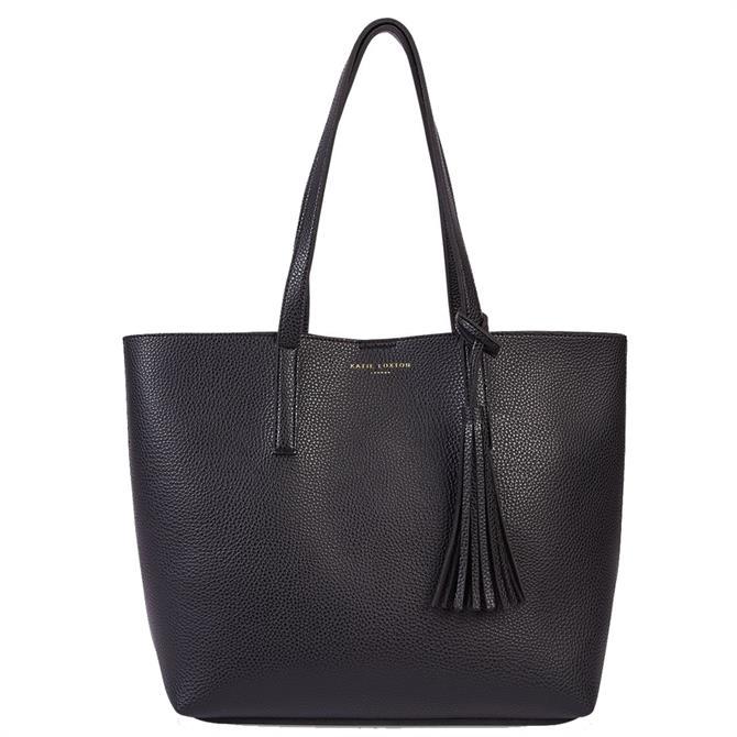 Katie Loxton Tavi Tassel Black Tote Bag