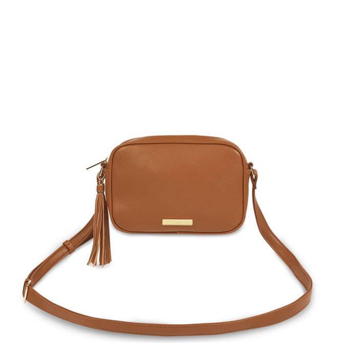Katie Loxton Sophia Tassel Cognac Crossbody Bag