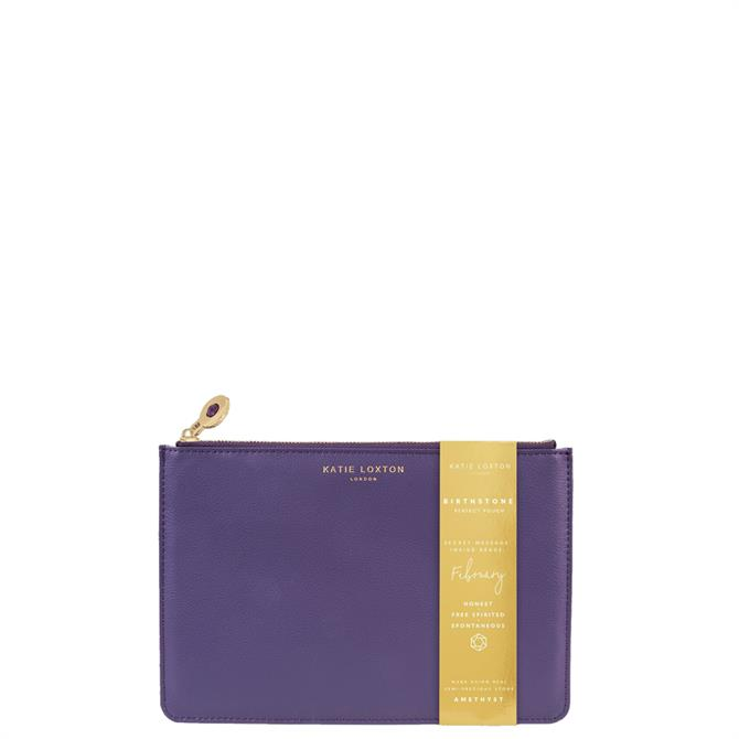 Katie Loxton February Birthstone Perfect Pouch