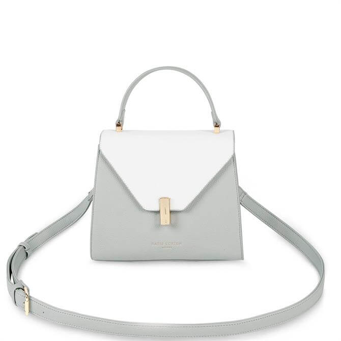 Katie Loxton Casey Grey & White Top Handle Bag