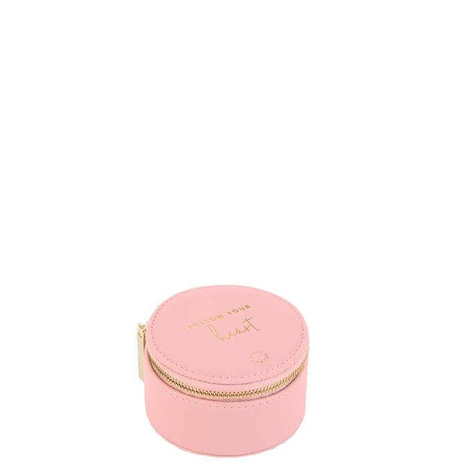 Katie Loxton 'Follow Your Heart' Pink Small Circle Jewellery Box