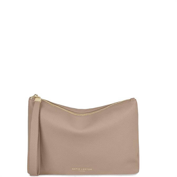 Katie Loxton Isa Taupe Clutch Bag